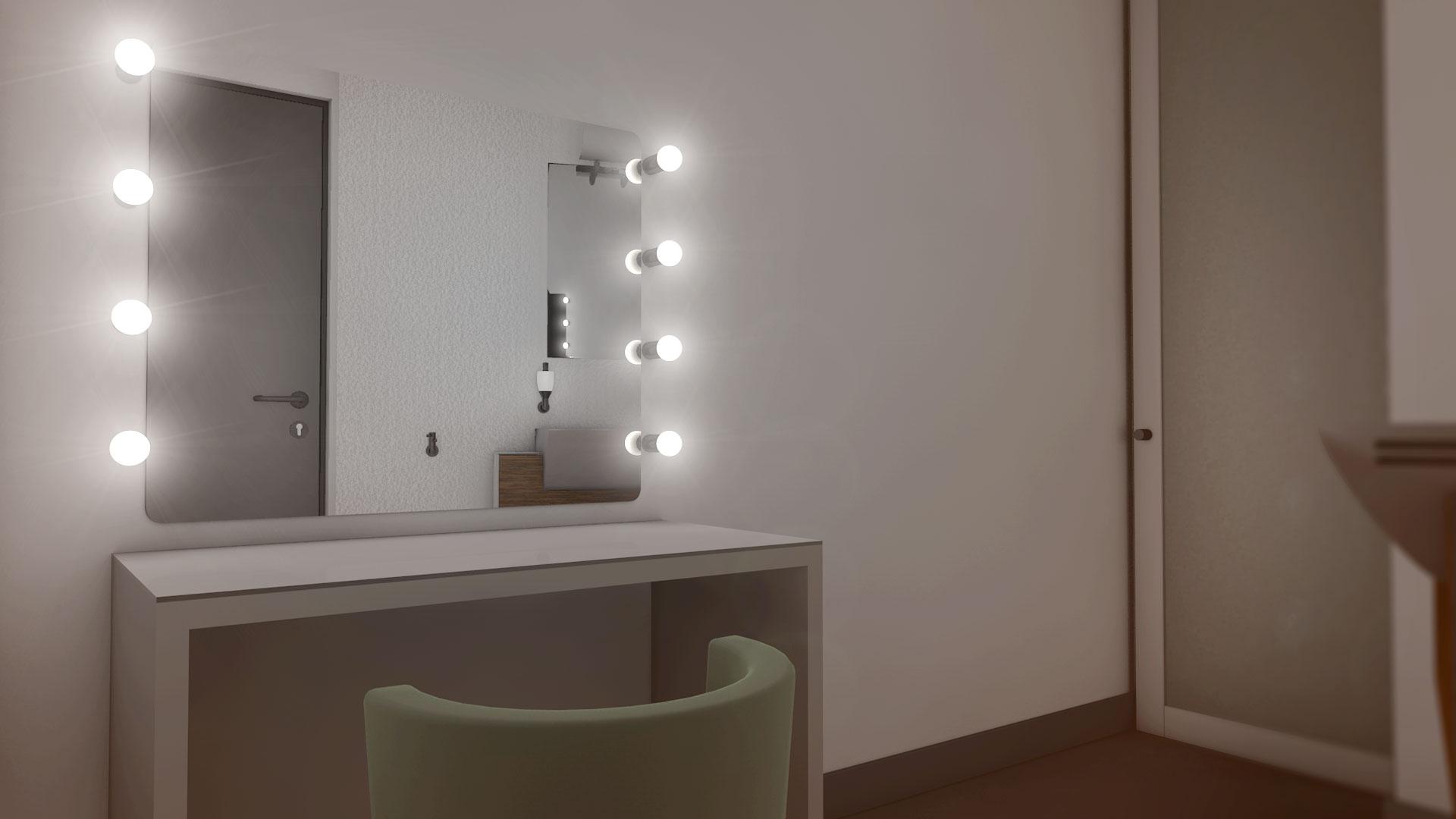 free miroir pour maquillage avec lumiere equipements les. Black Bedroom Furniture Sets. Home Design Ideas